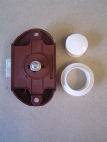 WHITE BUTTON SINGLE FOR RODS PUSH-LOCK